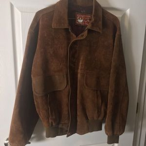Vintage Men's Italian suede bomber jacket